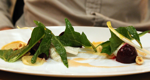 Beets with burrata.