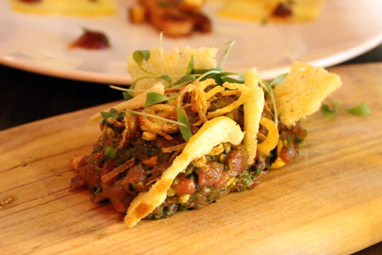 Lamb tartare.