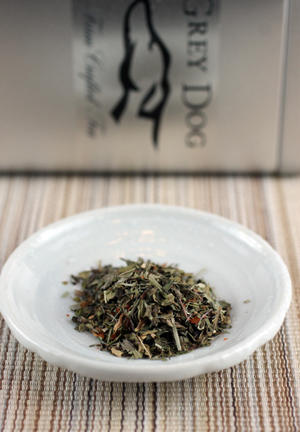 "The signature Grey Dog ""Chili Mint Herb'' blend."