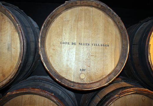 Barrels on display.