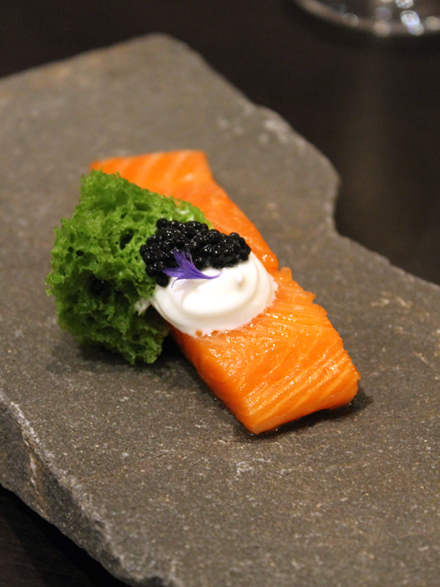 Self-taught Montreal chef, Antonin Mousseau-Rivard, creates superlative dishes like this cured steelhead trout.