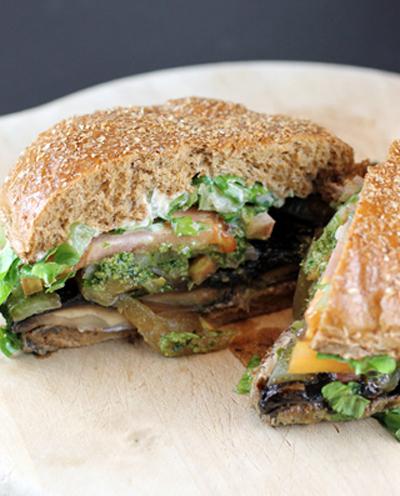 Veggie Grill's portobello burger.