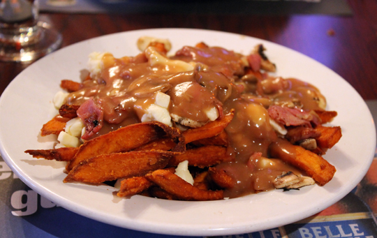 My poutine concoction with sweet potatoes. Looks pretty good, huh?