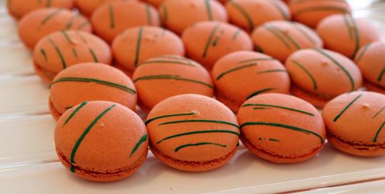 Pumpkin macarons.