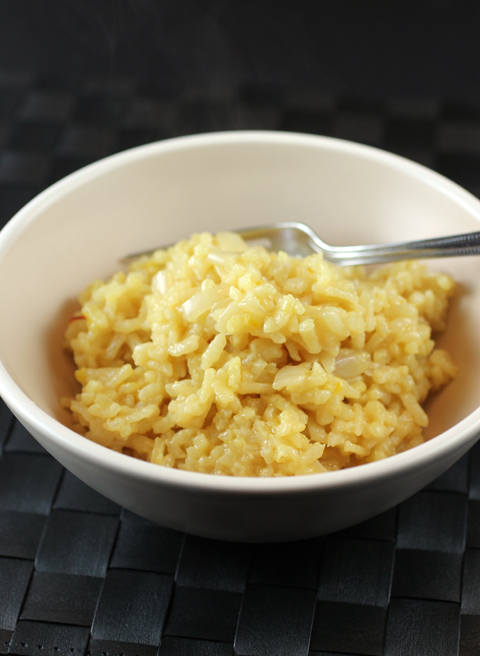 Risotto -- made in the rice cooker -- for the easiest rendition of all.