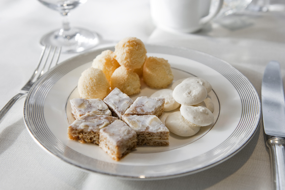 Three types of holiday bredele are offered at Vitrine at the St. Regis in San Francisco. (Photo courtesy of the restaurant)