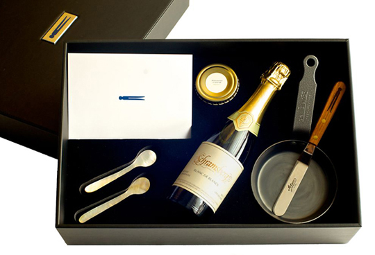 Caviar and champagne gift box. (Photo courtesy of the Thomas Keller Restaurant Group)