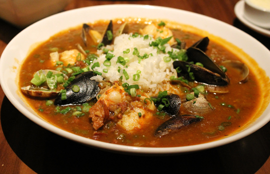 Gumbo laden with a mother lode of shellfish.