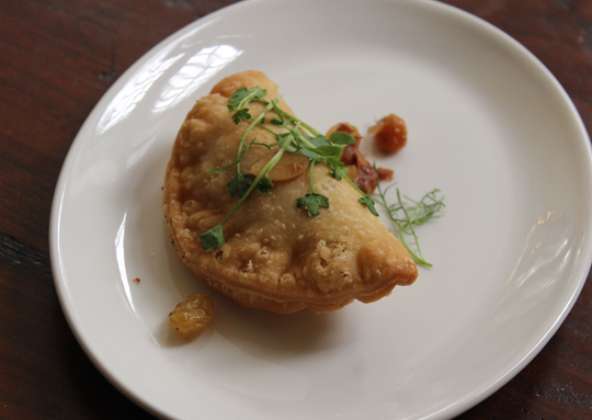 Duarte's sweet potato empanada.