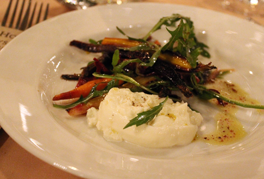 Suzanne Goin's burrata and roasted carrot salad.