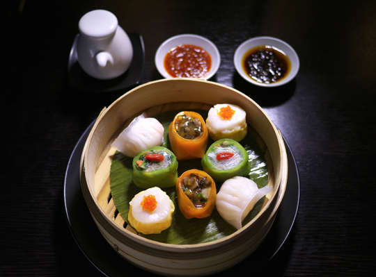 Hakkasan's steamed dim sum platter. (Photo courtesy of the restaurant)