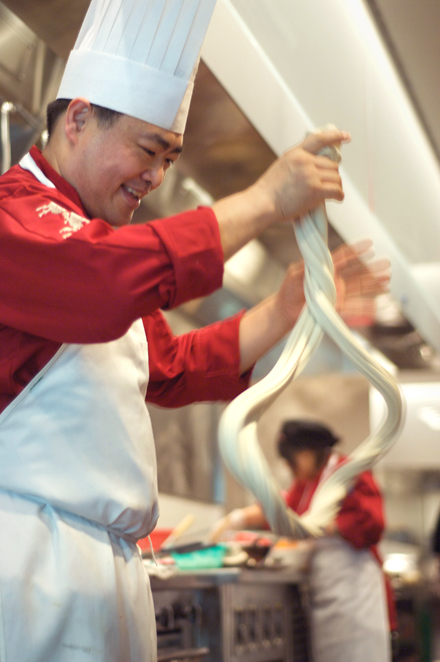 Don't miss the noodle-pulling demonstration by M.Y. China's chef at Bloomingdale's. (Photo courtesy of Blair Heagerty)