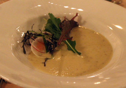 McNamara's fennel soup kicked off the gala dinner.