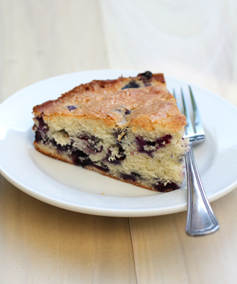 This simple and delightful blueberry cake recipe is featured in Seamus Mullen's book. (Photo by Carolyn Jung)