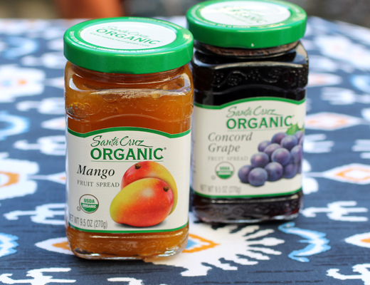 The newest flavors of Santa Cruz Organic Fruit Spreads.
