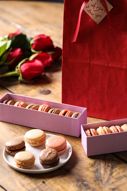 Make Valentine's Day especially sweet with these boxed macarons. (Photo courtesy of La Boulange)