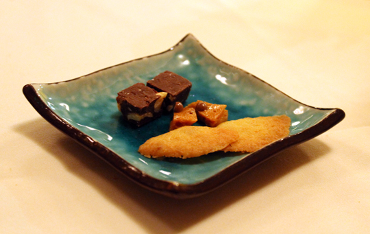 Little morsels of fudge, brittle and shortbread.
