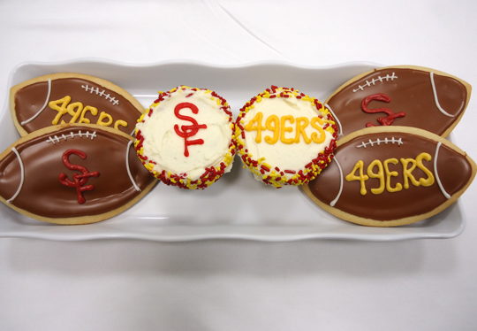 Nibble on these adorable cookies while cheering on the Niners. (Photo courtesy of SusieCakes)