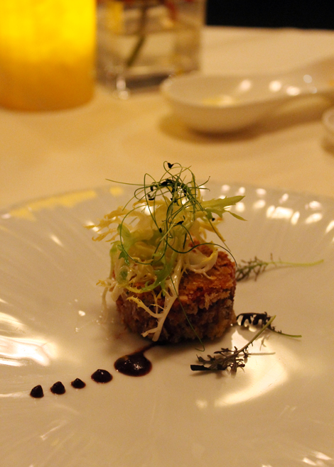 Mangalitsa pork terrine at Alexander's Steakhouse in Cupertino.