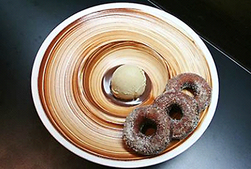 Beer donuts with chocolate stout ice cream. (Photo courtesy of Ame)