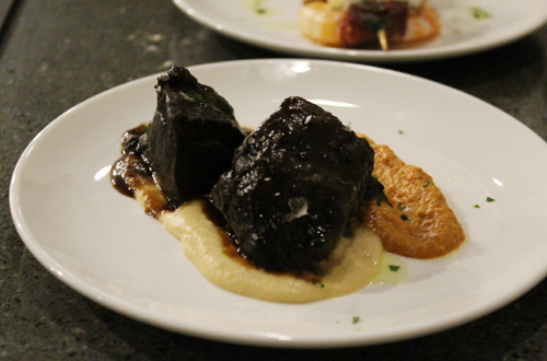 Swoon-tender beef cheeks.