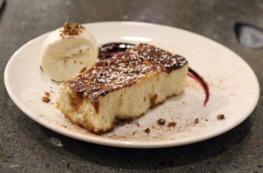 Spanish-style bread pudding.