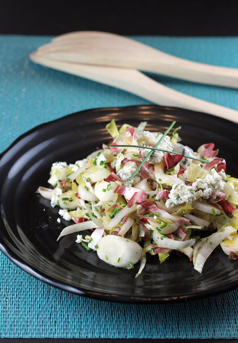 Endive salad with creamy Maytag blue cheese.