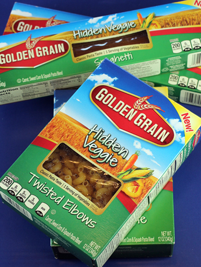 New Golden Grain Hidden Veggie pasta varieties. (Photo by Carolyn Jung)