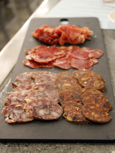 A sampler of Iberian meats.