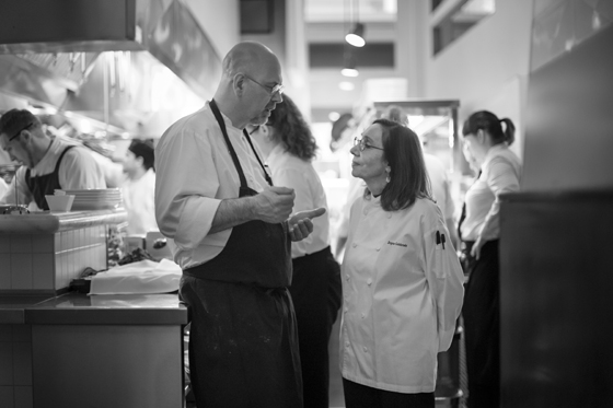 Chefs Staffan Terje and Joyce Goldstein team up for Passover. (Photo by Gamma Nine Photography)