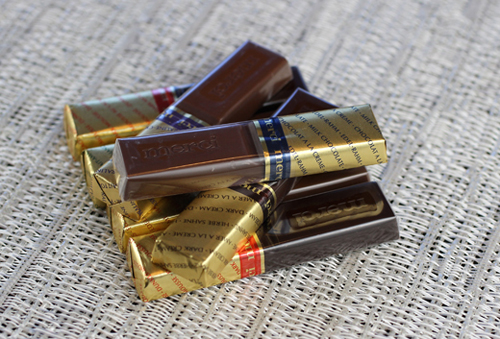 Merci chocolates come individually wrapped. (Photo by Carolyn Jung)