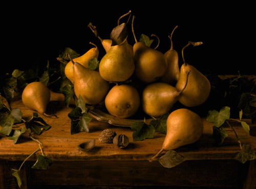 """Pears'' by Paulette Tavormina. (Image courtesy of the artist)"