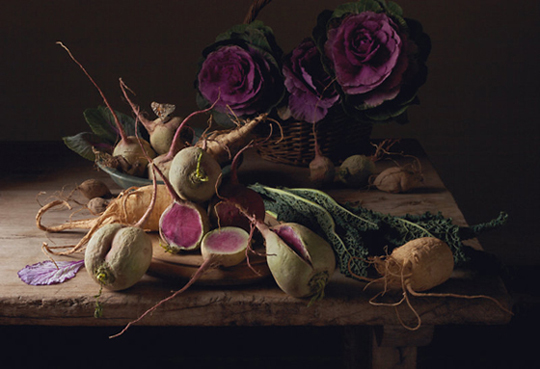 """Watermelon Radishes'' by Paulette Tavormina. (Image courtesy of the artist)"