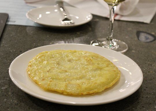 A classic tortilla with potatoes and onions.