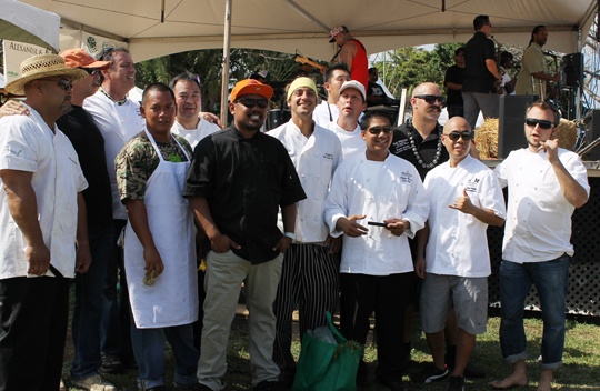 "The chefs who toiled under a fierce sun to participate in the ""mystery basket'' cook-off."