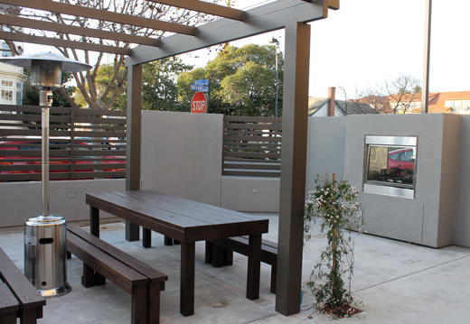 The public beer garden.