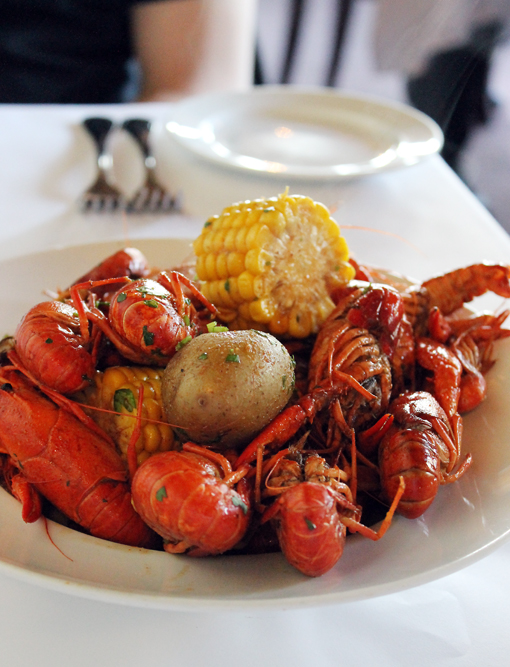Crawfish is flown in weekly from Mardi Gras time through the summer at CreoLa.