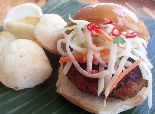 Lemongrass slider from Yummi BBQ. (Photo courtesy of Yummi BBQ)
