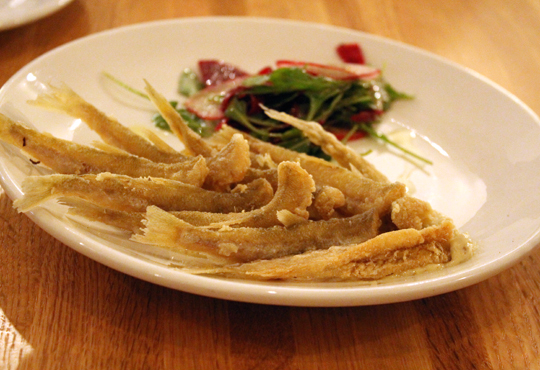 A special of fried smelts.