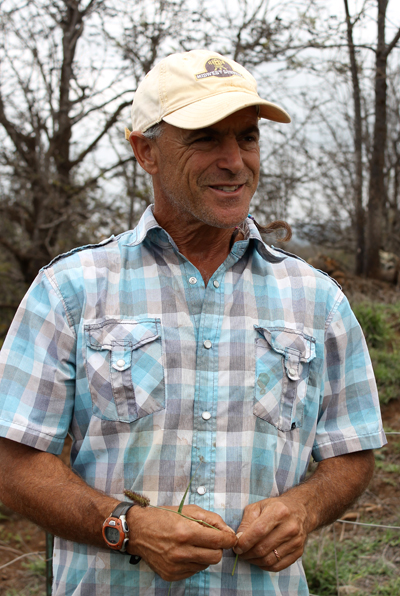 Former geologist Gerry Ross runs the farm with his wife.