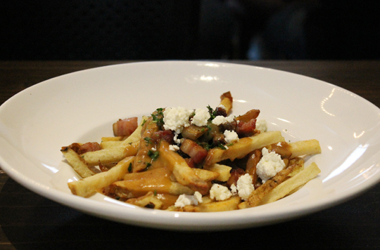 Poutine 1.0 with pork belly. It now sports smoked chicken instead.