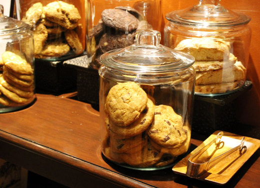 Jars of cookies, in case you're in need of a snack.