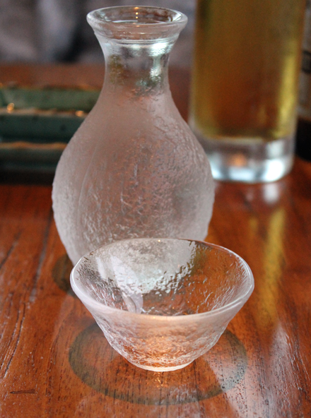 Sake is served.