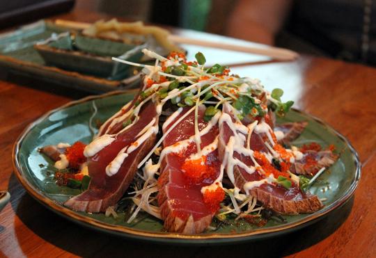 Tuna tatake at Kai Sushi.