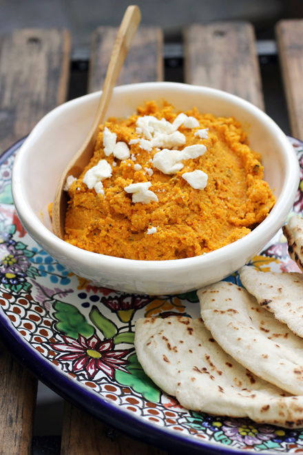 An addicting dip made with roasted carrots.