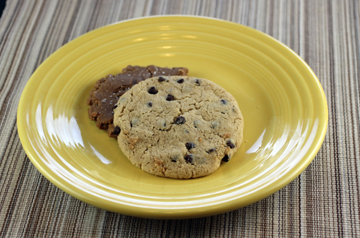 Chocolate chip and Sunbutter cookies.