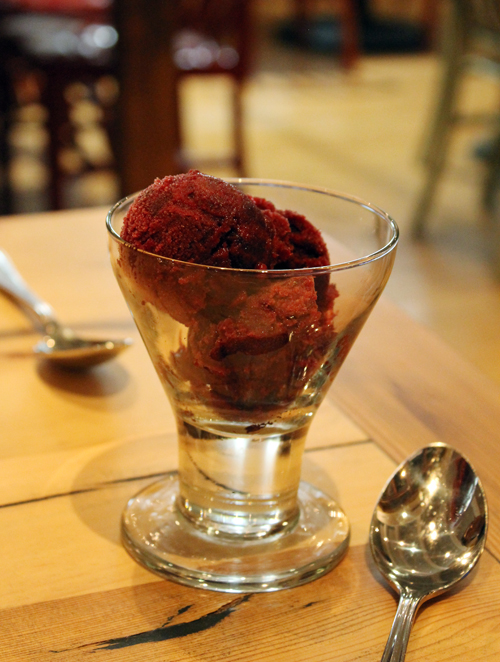 Huckleberry sorbetto at Campo 185.