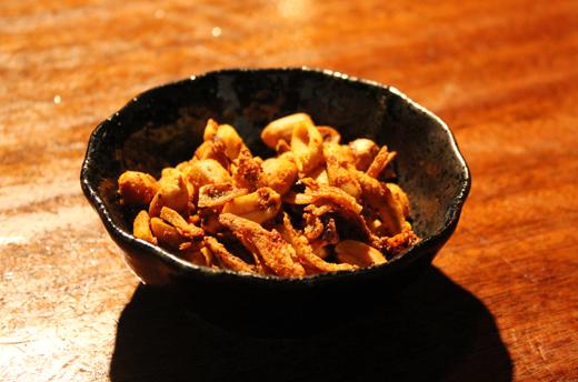 Peanuts and anchovies.