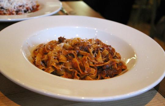 Tagliatelle with beef ragu.