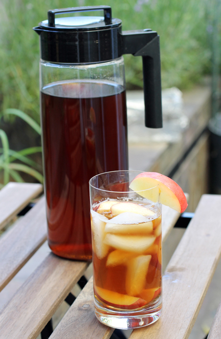 Mighty Leaf Tea's Ginger Peach iced tea.